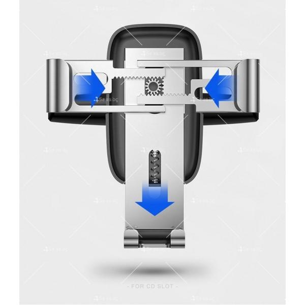 Метална стойка за телефон за кола с 360 градуса въртене Baseus - ST22 12