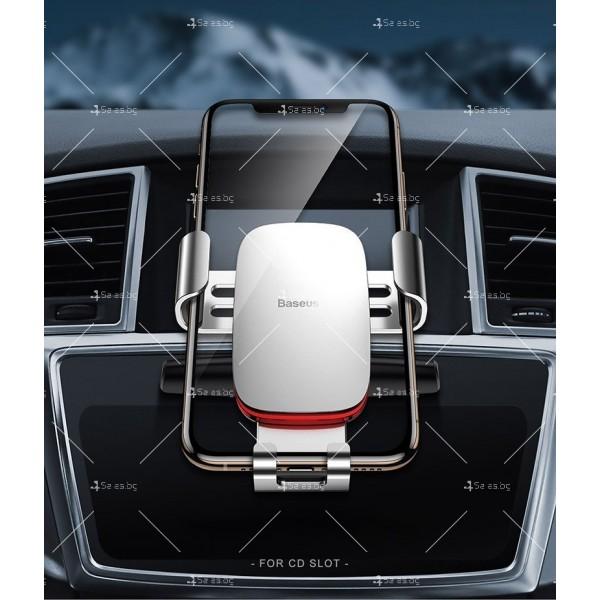 Метална стойка за телефон за кола с 360 градуса въртене Baseus - ST22 14
