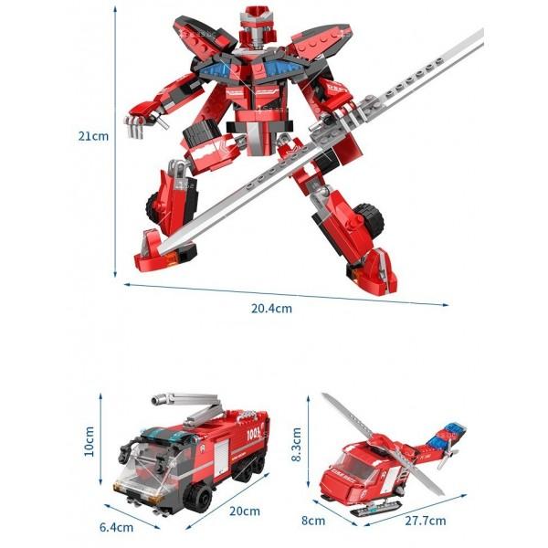 Детска играчка робот трансформарс - wj8 3