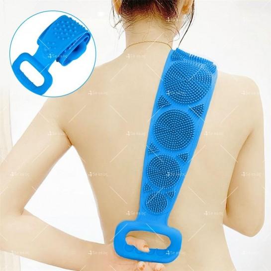Ексфолираща силиконова гъба за баня за триене на гърба TV476
