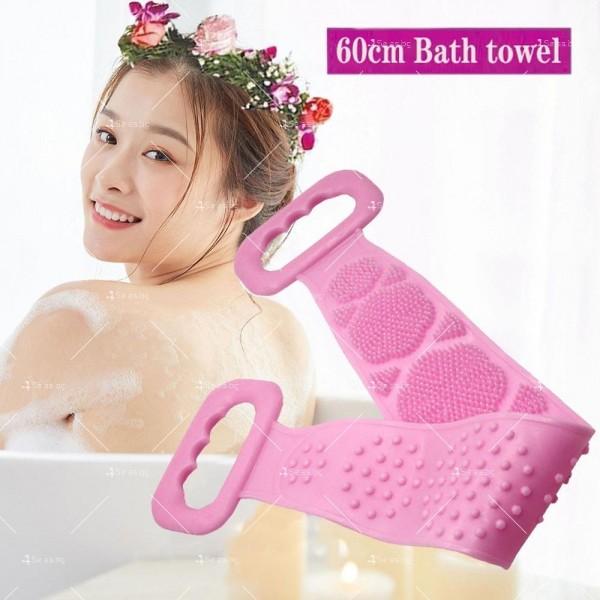 Ексфолираща силиконова гъба за баня за триене на гърба TV476 5