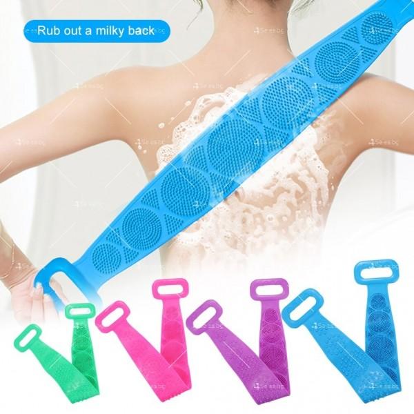 Ексфолираща силиконова гъба за баня за триене на гърба TV476 1