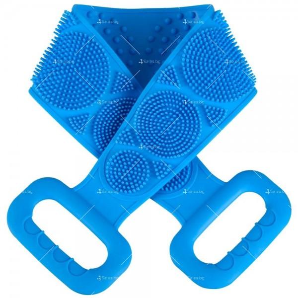 Ексфолираща силиконова гъба за баня за триене на гърба TV476 11