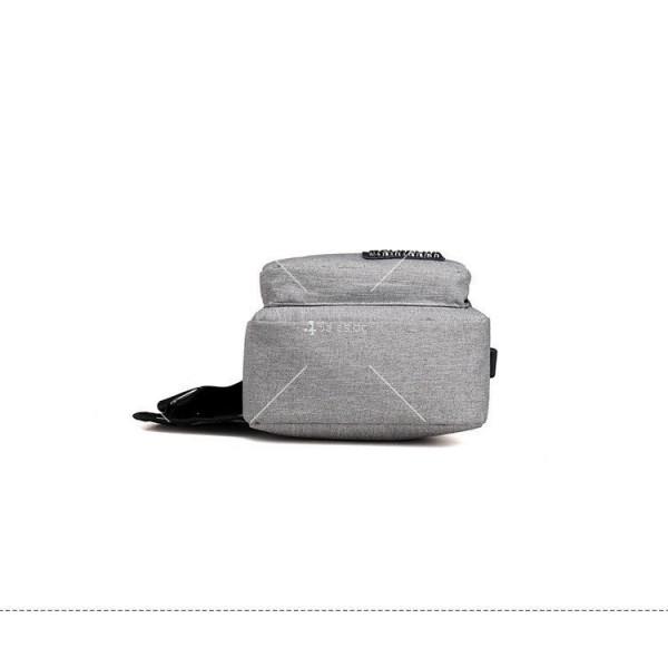 Удобна многофункционална чанта/раница през рамо с USB - BAG105 10