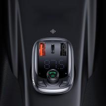 Безжичен MP3 трансмитер и зарядно устройство BASEUS S-13 T Type - HF61