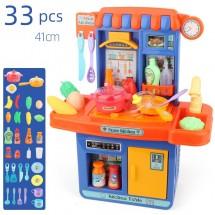Детска кухня за игра от 33 части със звуков и светлинен ефект WJ24-2
