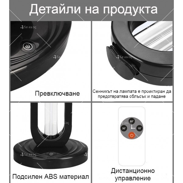 UV озонова лампа за дезинфекция на помещения с мощност от 38W - CY-38H 3
