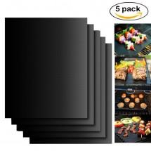 Незалепващи тефлонови подложки за барбекю от фибростъкло 5 броя TV746