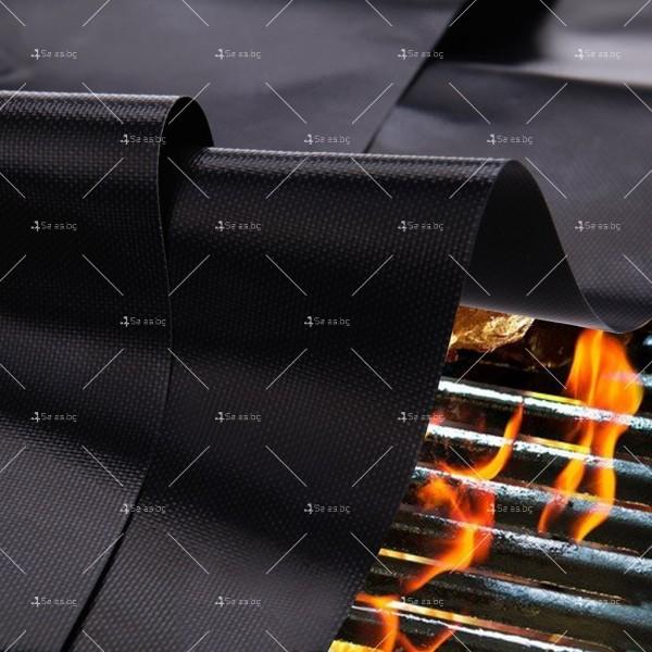Незалепващи тефлонови подложки за барбекю от фибростъкло 5 броя TV746 5