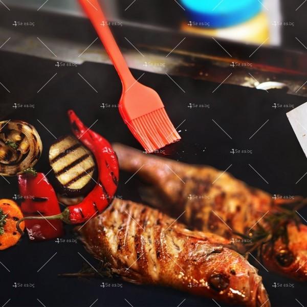 Незалепващи тефлонови подложки за барбекю от фибростъкло 5 броя TV746 11