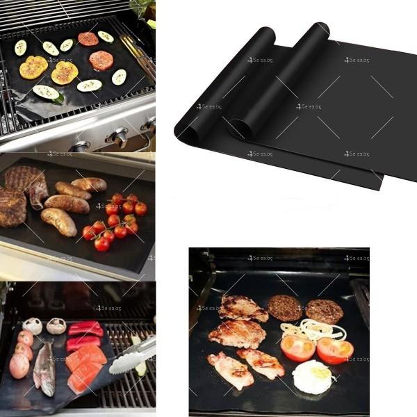 Незалепващи тефлонови подложки за барбекю от фибростъкло 5 броя TV746 12