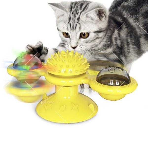 Интерактивна въртяща се играчка за котки вятърна мелница TV750
