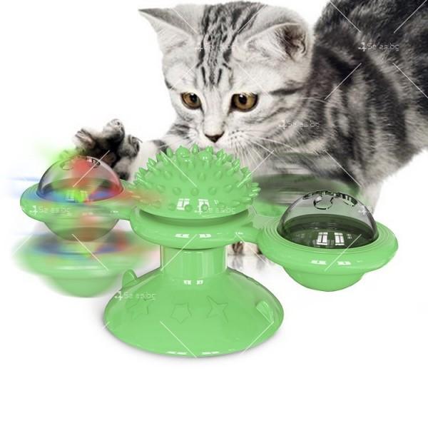 Интерактивна въртяща се играчка за котки вятърна мелница TV750 2