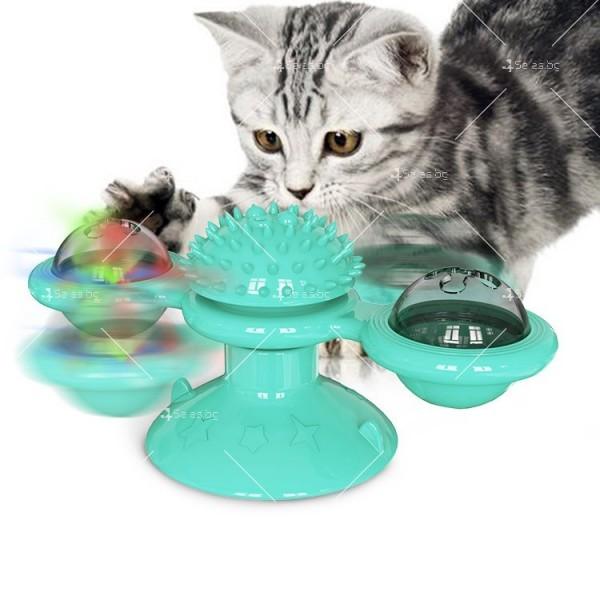 Интерактивна въртяща се играчка за котки вятърна мелница TV750 3