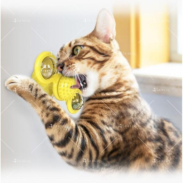 Интерактивна въртяща се играчка за котки вятърна мелница TV750 8