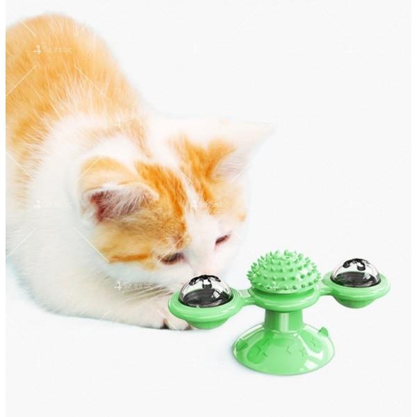 Интерактивна въртяща се играчка за котки вятърна мелница TV750 9