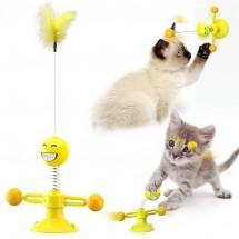 Забавна и възпитателна въртяща се играчка за котки TV752