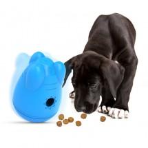 Търкалящ се контейнер играчка, от който се изсипва кучешка храна TV756