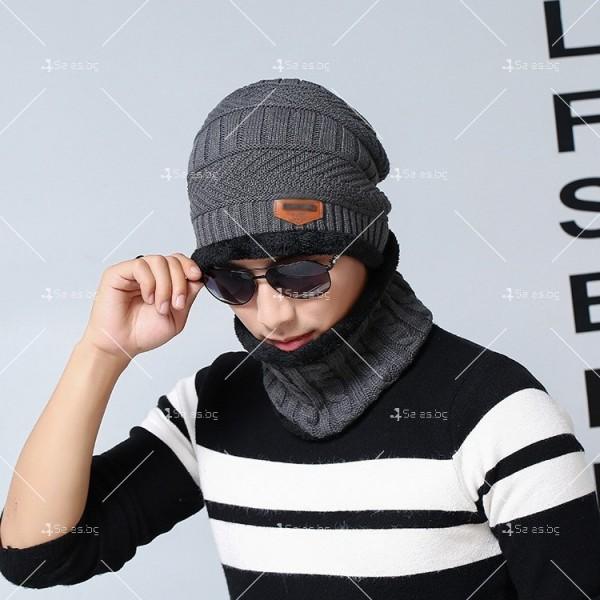 Плетена топла шапка и шал яка в различни цветове DM2 (ADULT)