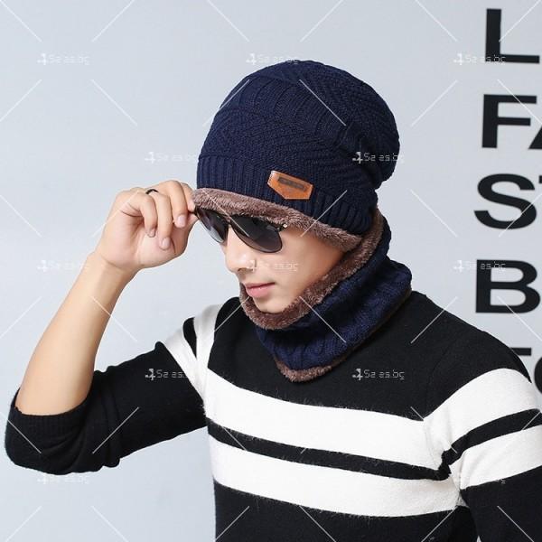 Плетена топла шапка и шал яка в различни цветове DM2 (ADULT) 2