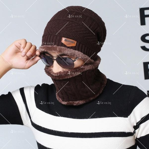 Плетена топла шапка и шал яка в различни цветове DM2 (ADULT) 3