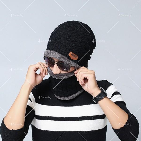 Плетена топла шапка и шал яка в различни цветове DM2 (ADULT) 6
