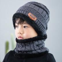 Детска плетена топла шапка и шал яка в различни цветове DM3(CHILDREN)