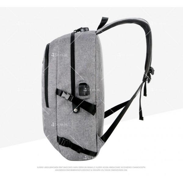 Многофункционална водоустойчива раница с USB зарядно BAG106 14
