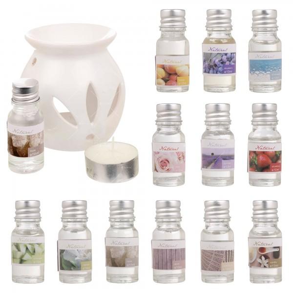 Ароматни натурални масла 12 броя в комплект със свещник и количество от по 10 мл 7
