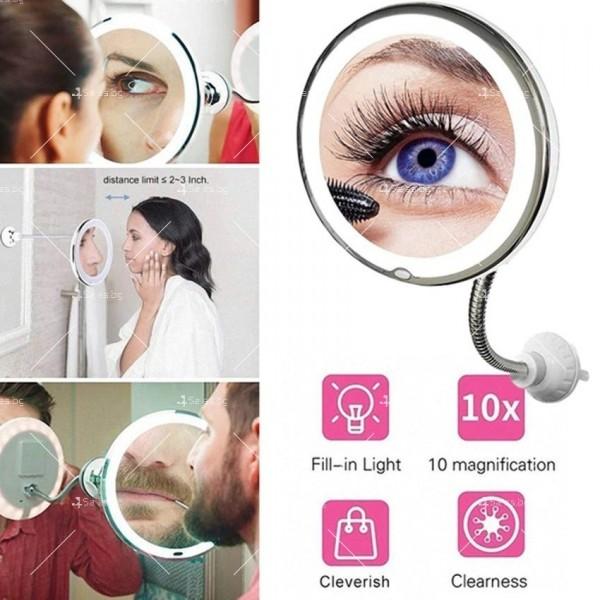 Оптично огледало с LED светлина, вакуумно захващане и10x оптично увеличение TV493 2