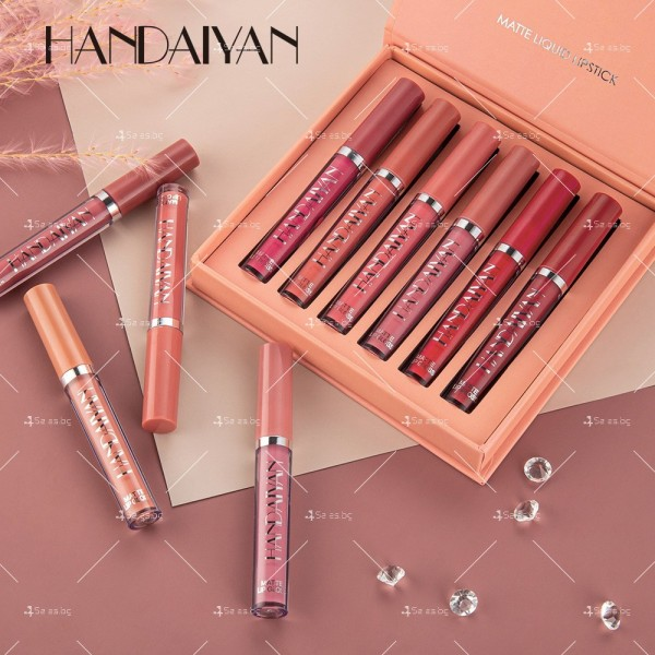 Комплект от 6 броя дълготрайни течни матови червила за устни Handaiyan HZS267 5