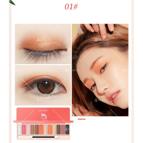 Палитра със сенки за очи с 12 на брой различни цветове HZS274