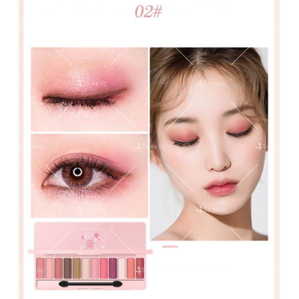 Палитра със сенки за очи с 12 на брой различни цветове HZS274 2