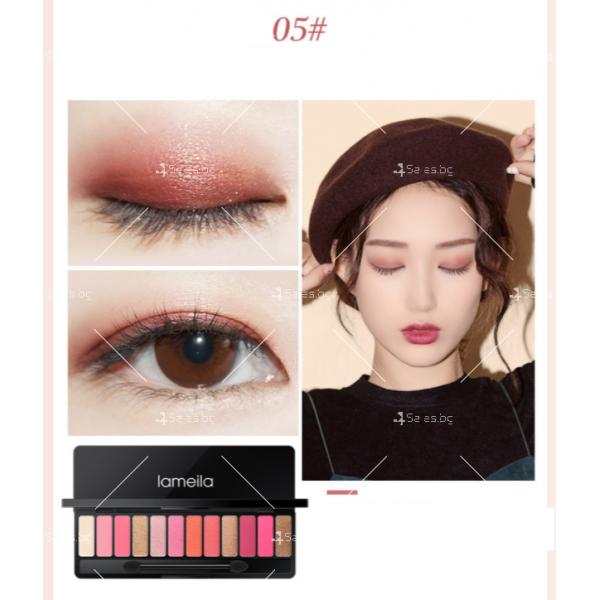 Палитра със сенки за очи с 12 на брой различни цветове HZS274 5