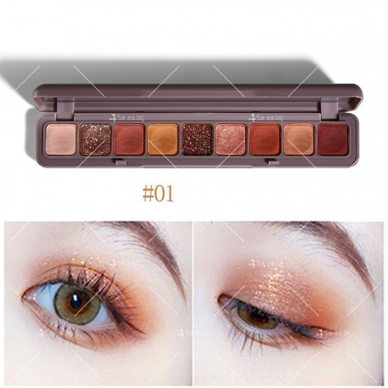 Палитра сенки за очи с 9 водоустойчиви цвята HZS276