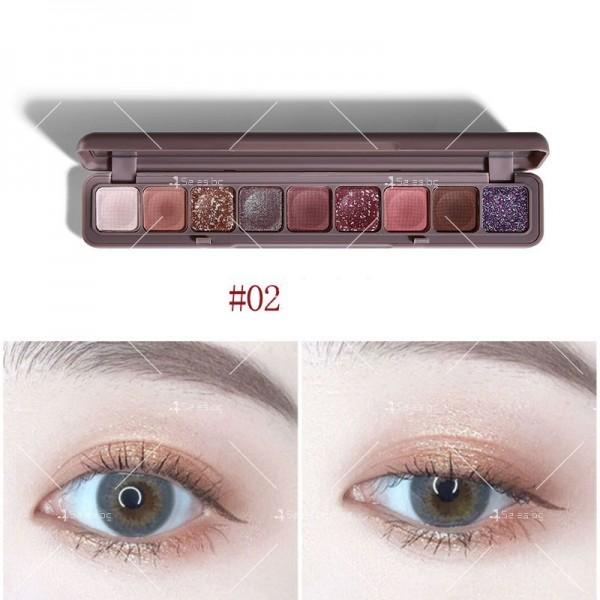 Палитра сенки за очи с 9 водоустойчиви цвята HZS276 2