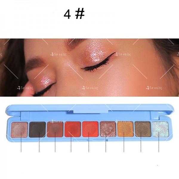 Палитра сенки за очи с 9 водоустойчиви цвята HZS276 4