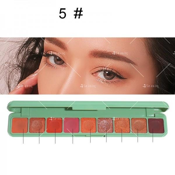 Палитра сенки за очи с 9 водоустойчиви цвята HZS276 5