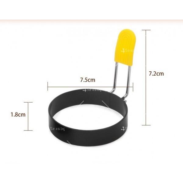 Метална кръгла форма за направата на яйца на очи - TV804 4