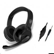 Жични геймърски слушалки с въртящ се микрофон на 120°, черни - EP47
