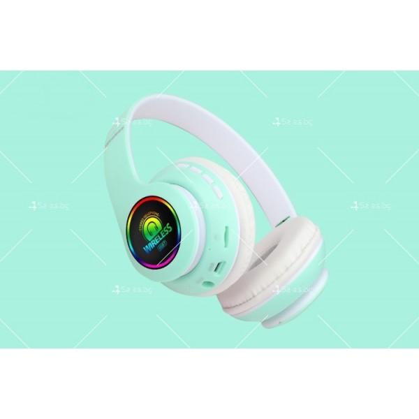 Bluetooth слушалки с регулируема диадема и прибиращи се наушници - EP53 3