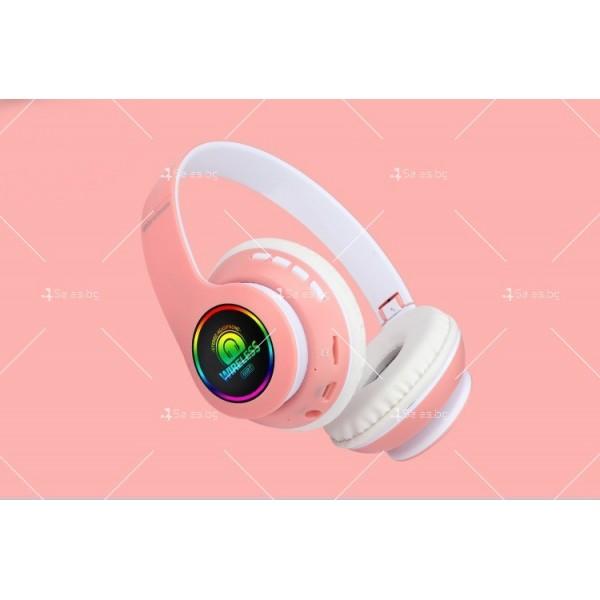 Bluetooth слушалки с регулируема диадема и прибиращи се наушници - EP53 4