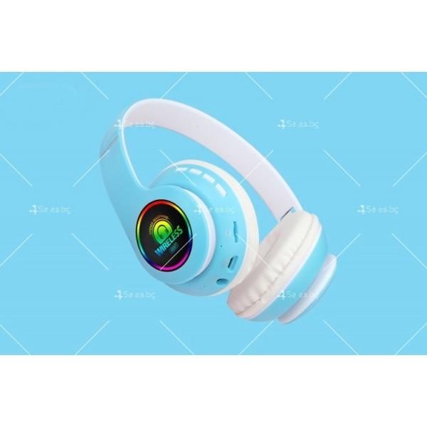 Bluetooth слушалки с регулируема диадема и прибиращи се наушници - EP53 5