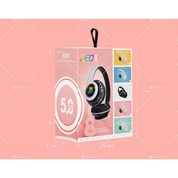 Bluetooth слушалки с регулируема диадема и прибиращи се наушници - EP53 8