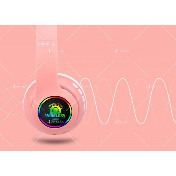 Bluetooth слушалки с регулируема диадема и прибиращи се наушници - EP53 9