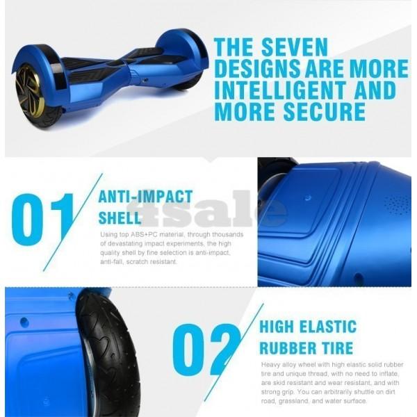 Ховърборд BATMAN с 8 инчови гуми Bluetooth аудио система и над 3000 зареждания 9