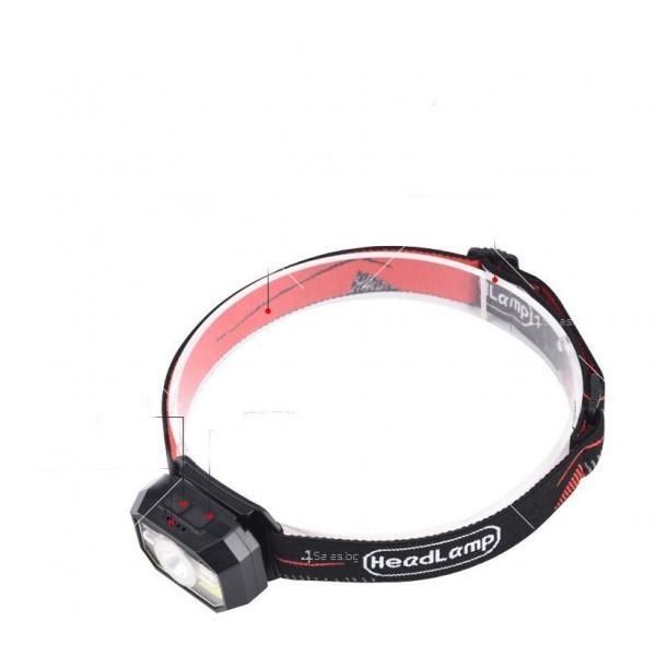 LED фенер за глава с 6 режима на работа, вградена батерия и USB зареждане - FL86 2