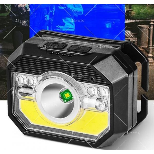 LED фенер за глава с 6 режима на работа, вградена батерия и USB зареждане - FL86 5