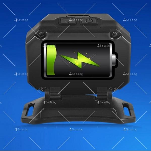 LED фенер за глава с 6 режима на работа, вградена батерия и USB зареждане - FL86 8