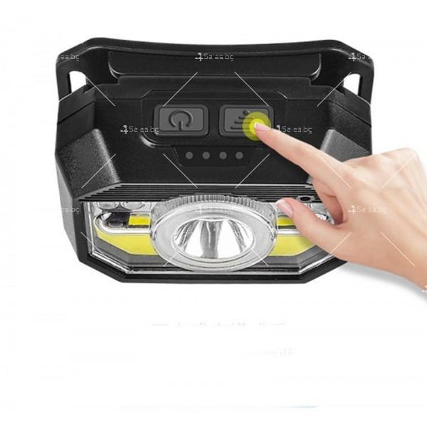 LED фенер за глава с 6 режима на работа, вградена батерия и USB зареждане - FL86 12